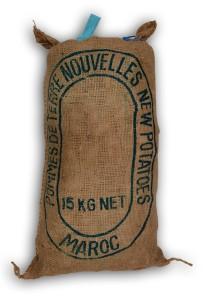Nicola Maroc in traditionele verpakking: 15kg jute baaltje