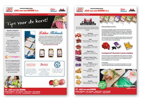 Flyer Jac van den Oord met tips voor de kerst